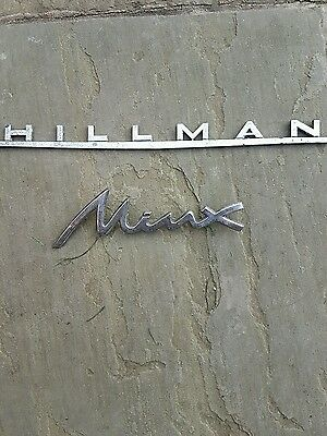 Hillman and Minx badges