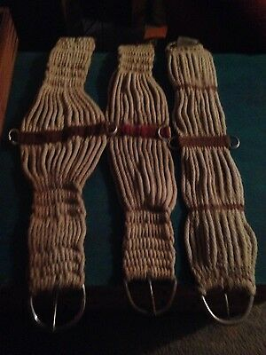 Lot of used horse cinches