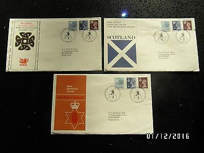 GB STAMPS FDC - DEFINITIVES NI, WALES  & SCOTLAND - 18 JAN 1978 -USED- 49p START
