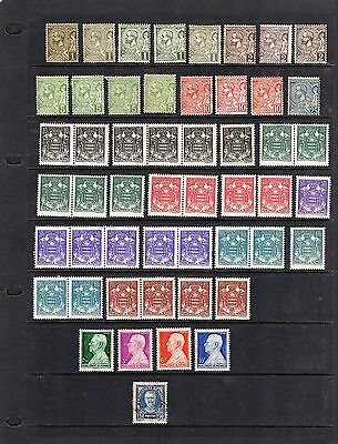 Monaco;1891-1950; duplicated selection of 85;mostly unmounted or mint; cat £95