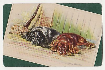 LUCY DAWSON DOGS : SPANIELS [GREEN] Single Vintage Swap/Playing Card