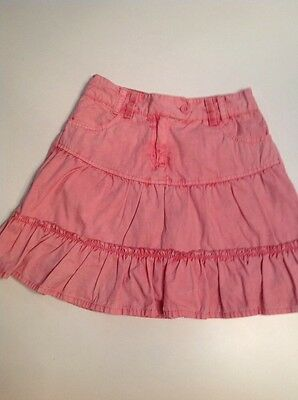 Girl's ROCHA JOHN ROCHA Pink Washed Look Cotton Lined Skirt Age 7 yrs