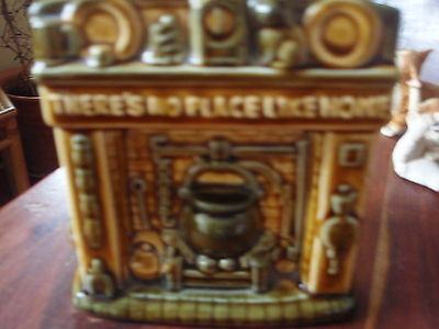 Vintage Szeiler Studio Moneybox 'there's no place like home' fireplace