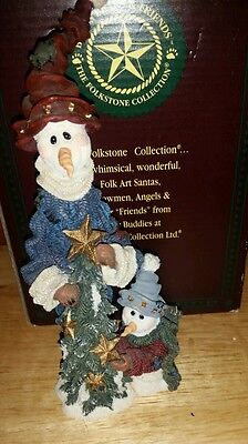 Boyds Folkstone collection resin Chilly & Millie Starlights MINT CONDITION