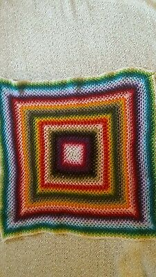 Lovely multicoloured crochet pet blanket cat small dog