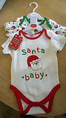 Santas Little Helper Vests X2 Size 9/12 MTHS New With Tags