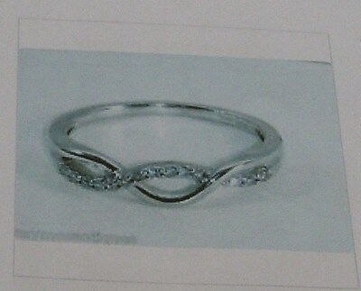 9K White Gold And Diamond Eternity Ring Size N