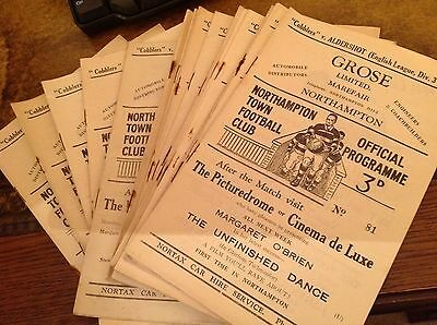 Northampton Town Football Programmes 20 from 1948-49