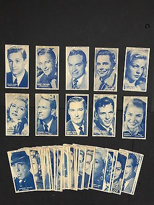 Cigarette Cards & Collectables **Set Of 50 Turf Cigarettes Film Stars**