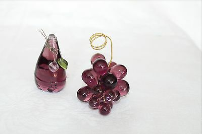 Vintage Purple Crystal Fruits In Good Condition