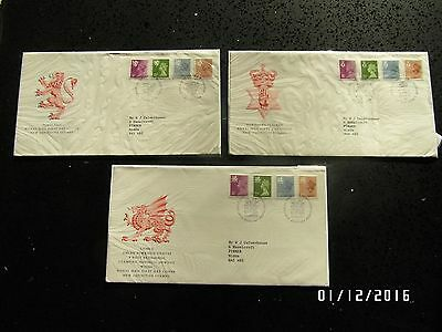 GB STAMPS FDC - DEFINITIVES NI, WALES  & SCOTLAND - 23 OCT 1984 -USED- 49p START