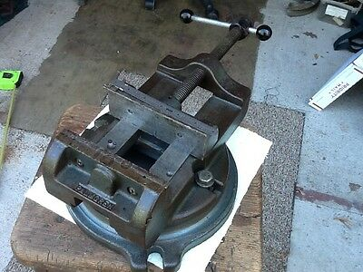 "Vintage Palmgren Heavy Duty 5-7/8"" Jaws Swivel Base Machine Vise. USA"