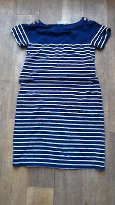 JoJo Maman Bebe Navy Nursing Tunic Dress size Small (10)