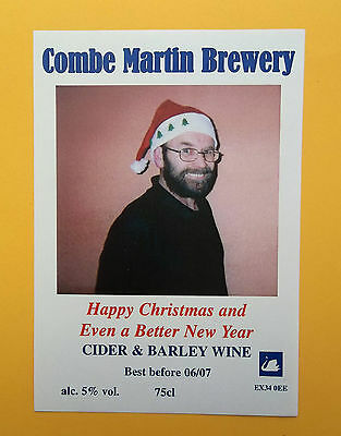 Christmas Beer Label - Combe Martin Brewery - Combe Martin - Devon