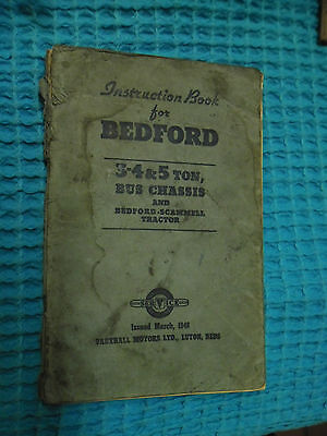 Genuine Bedford 3-4 And 5 Ton Bus Bedford Scammell Instruction Book 1948