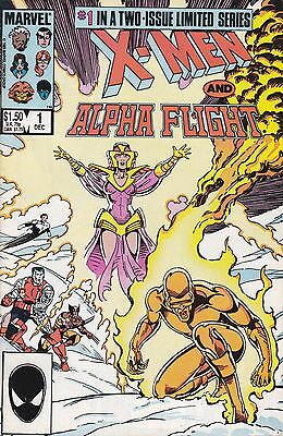X-MEN AND ALPHA FLIGHT #1 AND #2 (Marvel Comics) 1985 COMPLETE 2 ISSUE SERIES