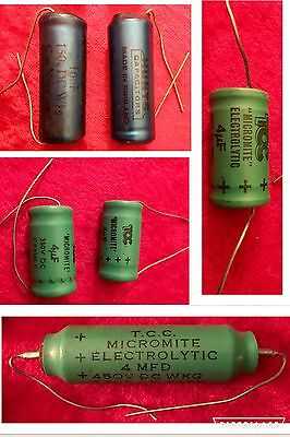 Job Lot Of VINTAGE Micromite Electrolytic, Capacitors, Occasion And Rare