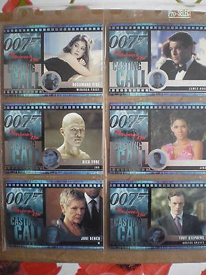 2002 Rittenhouse James Bond Die Another Day Casting Call Chase Card Set (C1-C12)