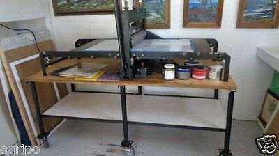 "Wright Motorized Combination Printing Press-Bed Size: 48""x27"""