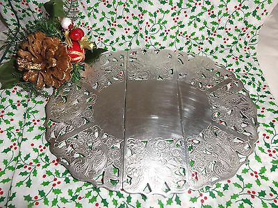 Pretty Chased Silver Plated Extending Oval Trivet Stand