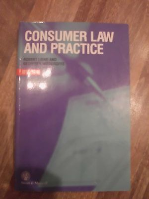 Consumer Law and Practice by R. Lowe, G.F. Woodroffe (Paperback, 1999)