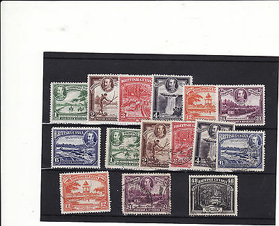 British Guiana - 1934 Definitives Selection Of 15 Used/mm Some Duplication