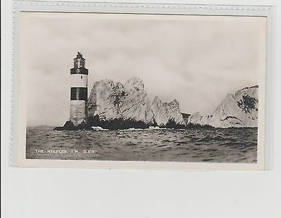 The Needles Isle Of Wight Real Photograph Postcard Unposted c1950s Dean Sandown