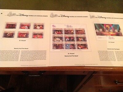 Disney Beauty and the Beast St.Vincent Stamps