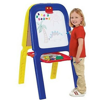 Crayola Double Easel 3-in-1 Magnetic Dry Erase Kids Art Drawing Activity Board
