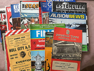 33 FA Cup Programmes 1959-1980 Mostly 1970's