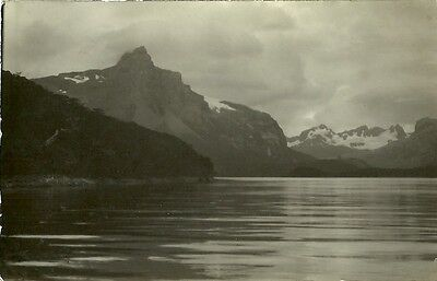Magallanes Chile Snow Capped Mountains 1932 Real Photo Postcard