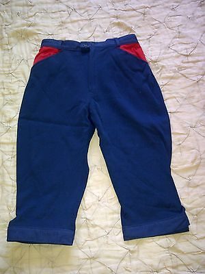 Craghoppers walking rambling hiking cropped trousers breeches navy size 14