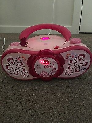 Barbie Boombox CD and Radio Player excellent condition
