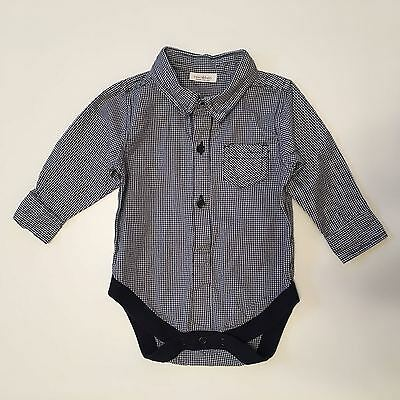 Next Baby Boys Small Gingham Checked Shirt Bodysuit - 3-6 Months