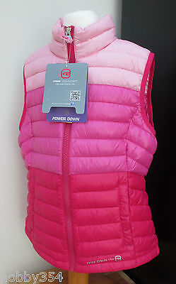 Kids Free Country Duck Down Gilet Quilt Vest Jacket Body Warmer Lite Pink S M L
