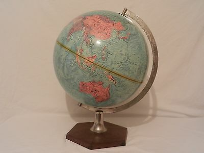 "Large Vintage 12"" Philips Scan-Globe A/S Denmark/ Raised detailed areas"