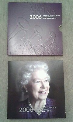 2006 Royal Mint Queens 80th Birthday BU £5 Five Pound Coin Pack