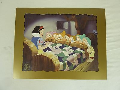 Set Of 3 Disney Collectable Lithograph Prints With Envelopes                #gl#