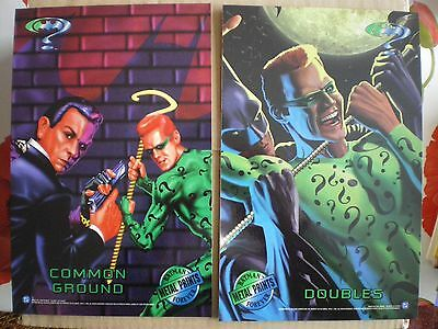 "1995 ~ 8  BATMAN FOREVER METAL  OVERSIZED Chase Cards (8"" x 10"")"