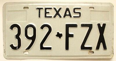 Texas 1983 1984 License Plate, 392-FZX, for Man Cave, Garage Wall, Rat Rod