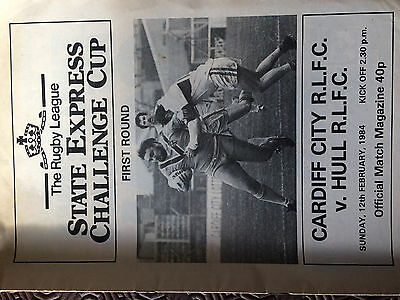 Cardiff City v Hull FC State Express Challenge Cup At Ninian Park 1984