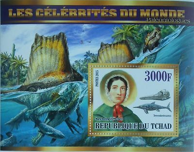 PALEONTOLOGISTS Dinosaurs  Mary Anning s/s Tchad 2015 #tchad2015-90