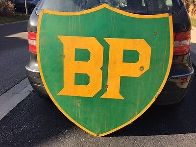B.P British Petroleum Advertising Double Sided Sign - Petroliana Collectibles
