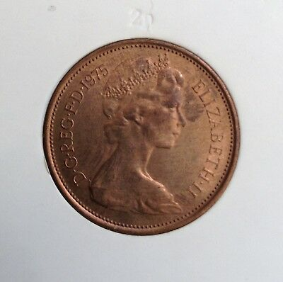 1975 2 new pence, very fine