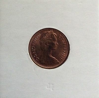 1980 1/2 new pence, very fine