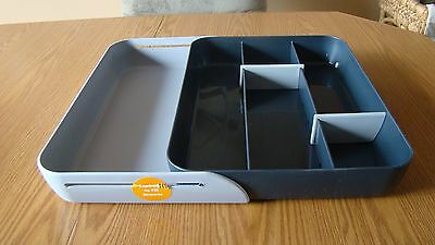 MICHAEL GRAVES Large EXPANDABLE Utensil Cutlery Drawer Organizer Tray