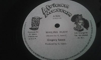 """Gregory Isaacs - Wailing Rudy - 12 """" African Museum Label."""