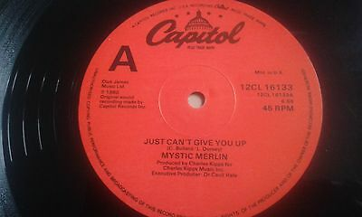 """MYSTIC MERLIN - Just Can't Give You Up 1980 UK 12"""" NEAR MINT VINYL"""