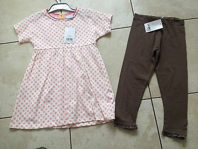 Mini Club Girls Dress and Next Leggings Age 2-3 Years. BNWT.