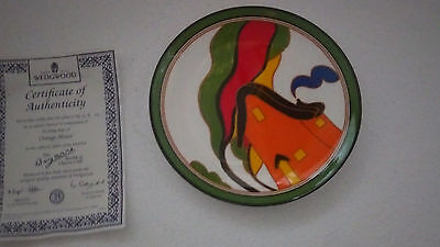 Orange House Wedgewood plate by Clarice Cliff. Limited edition plate number 63 H
